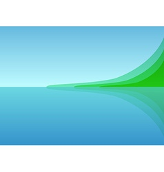 Landscape sea shore vector
