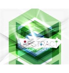 Geometric abstract background arrow design vector