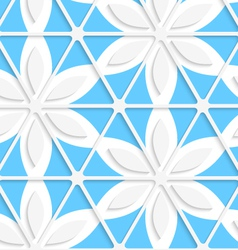 Floral with net and blue seamless vector