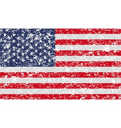 Flag of usa with old texture vector