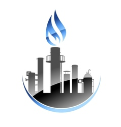 Oil refinery or industrial plant vector