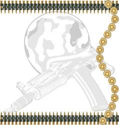 Machine gun tape vector