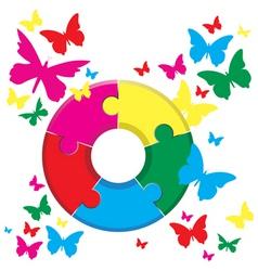 Butterflies background vector