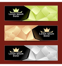 Set royal triangle banners vector