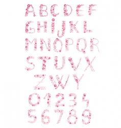 Bubbly alphabet vector