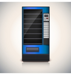 Vending machine with shelves blue coloor vector
