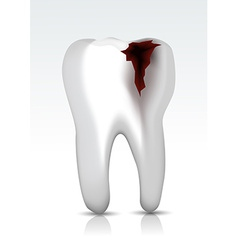 Decayed teeth vector