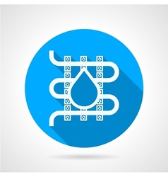 Round icon for water underfloor heating vector