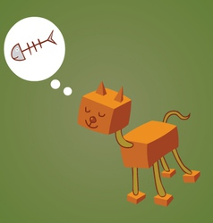 Robotic cat one vector