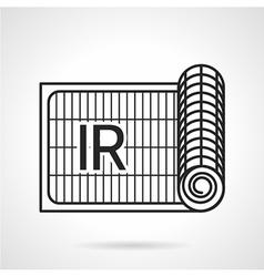 Radiant underfloor heating icon vector