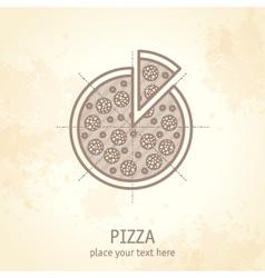 Pizza draft vector
