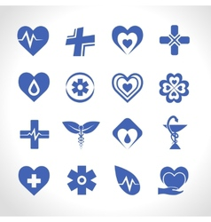 Medical logo blue vector