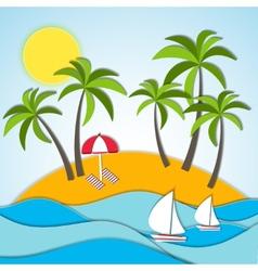 A summer vacation vector