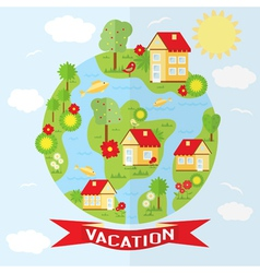Countryside in flat style vector