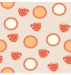 Tableware pattern vector