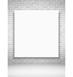 Poster on brick wall vector