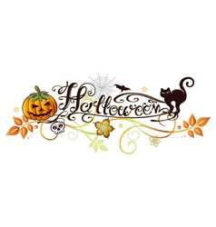 Halloween party logo vector