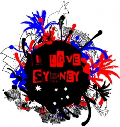 Sydney grunge design vector