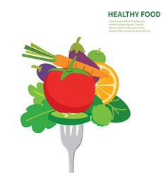 Healthy food background isolated vector