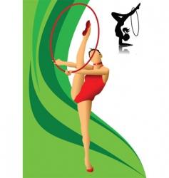 Female gymnast vector