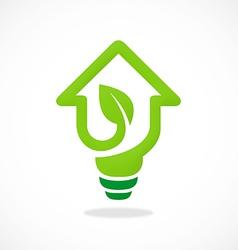 Home design idea concept ecology logo vector