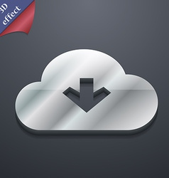 Download from cloud icon symbol 3d style trendy vector