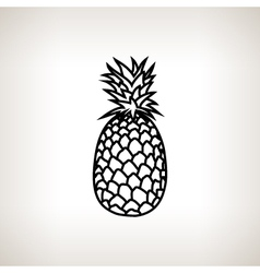 Pineapple in the contours vector