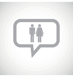 Man woman grey message icon vector
