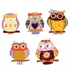 Cute owls vector