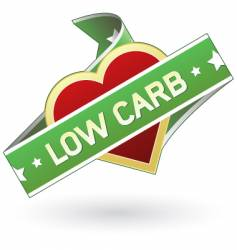 Low carb food label vector
