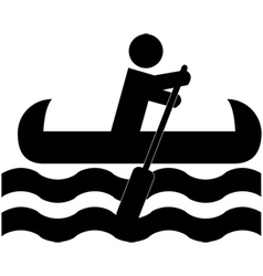 Canoeing icon vector