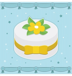 Decorated cake vector