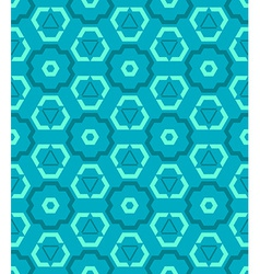 Cyan blue green color abstract geometric seamless vector