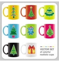 Christmas cups vector