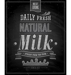 Natural milk chalk vector