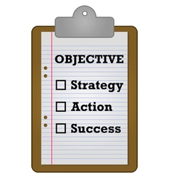 Objective checklist vector