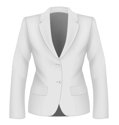 Ladies suit jacket vector