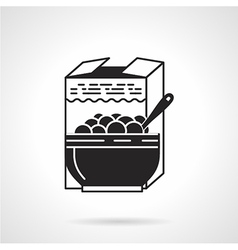 Black icon for breakfast cereal vector
