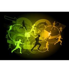 Modern runners vector