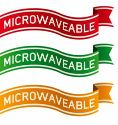 Microwaveable package label vector