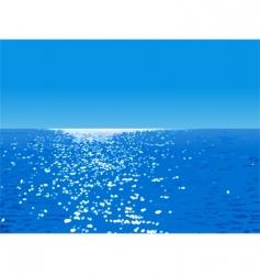 Ocean landscape vector