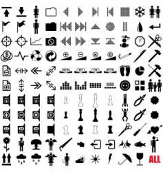 121 pictograms vector