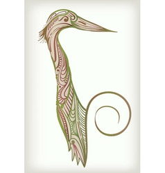 Heron bird sketch vector