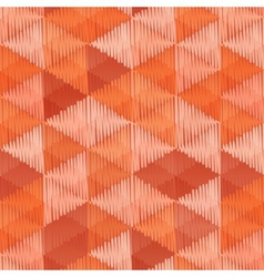 Vintage colors triangles textile seamless pattern vector