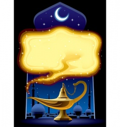Aladdin's lamp vector