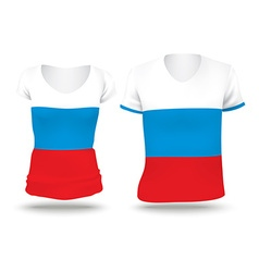 Flag shirt design of russia vector