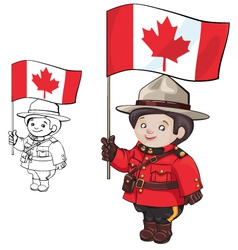 Cute cartoon canadian mounties vector