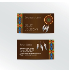 Ethnic business card vector