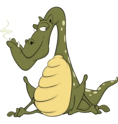 Green dragon cartoon vector