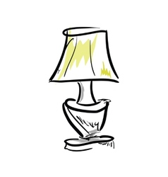 Cartoon lamp on white background vector